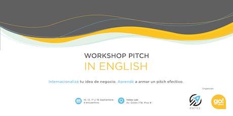 WorkShop Pitch in English entradas