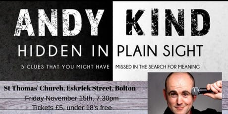 Andy Kind: Hidden in Plain Sight  tickets