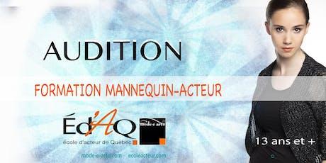 Audition Mannequin-Acteur billets