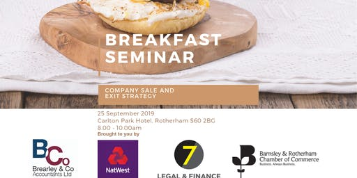 Breakfast Seminar - Company Sale and Exit Strategy
