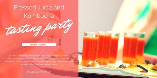 Tasting Party! JUICE and KOMBUCHA plus VEGAN FOOD