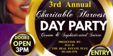 3rd Annual Charitable Harvest Day Party tickets