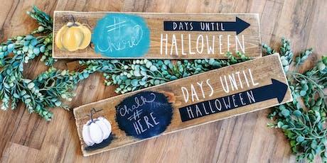 Halloween Chalboard Countdown Paint Night tickets