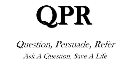 Copy of  QPR: Question, Persuade, Refer Suicide Prevention Training  tickets