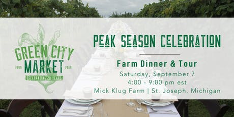 2019 | A Peak Season Celebration of the Green City Market Community at Mick Klug Farm tickets