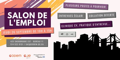 Salon de l'emploi 2019 - CODEM tickets