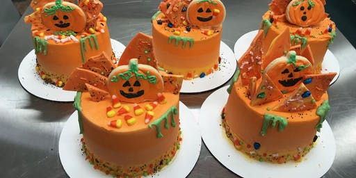Cake Decorating: Ombre Halloween Candy Drip Cake at Fran's Cake and Candy Supplies