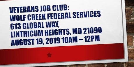 Anne Arundel County Veterans Job Club tickets