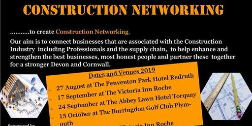 27 August - Construction Partnerships Networking Events, Penventon Hotel, Redruth