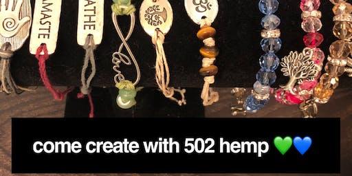 Jewelry Making Class with 502 Hemp