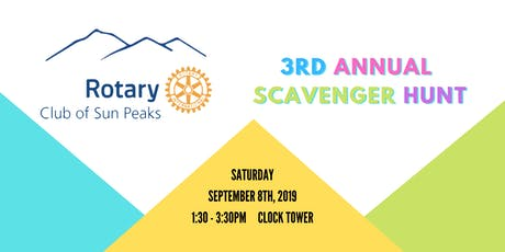 3rd Annual Rotary Club of Sun Peaks Scavenger Hunt tickets
