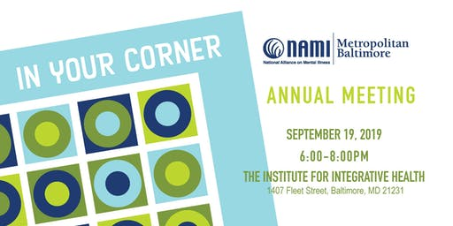 NAMI Metro Baltimore 2019 Annual Meeting