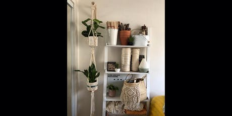Macrame double plant hanger workshop tickets
