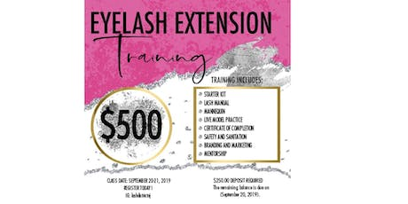 Classic Eyelash Extension Training | 2-Day Class tickets