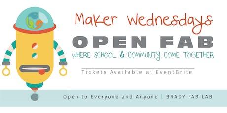 Maker Wednesdays @ Brady Fab Lab (Open Hours) tickets