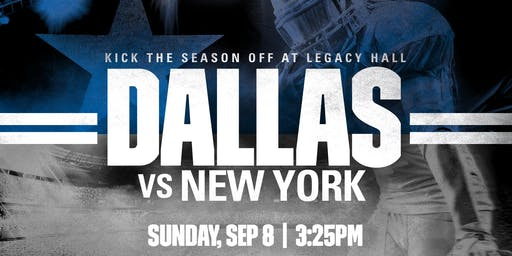 Dallas Cowboys vs. NY Giants Watching Party