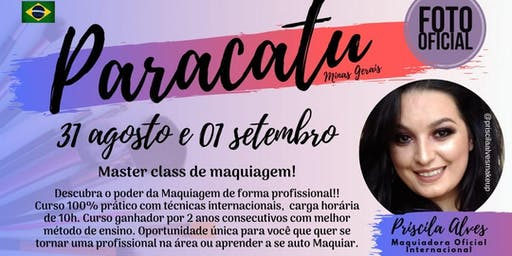 MASTER CLASS DE MAQUIAGEM - PARACATU MG