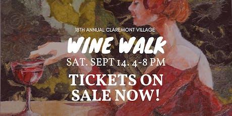 Claremont Wine Walk tickets