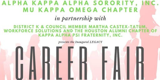 Alpha Kappa Alpha Sorority, Inc. Mu Kappa Omega Chapter L.E.G.A.C.Y. Career Fair