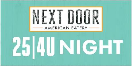 University Hill Elementary 25|4U Night at Next Door in Boulder tickets