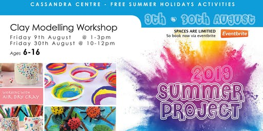 Cassandra Centre Summer - Clay Modelling  Workshop