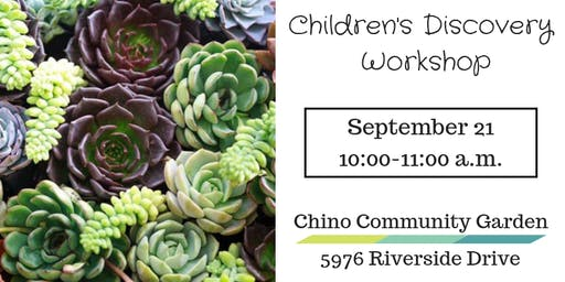 Children's Discovery Workshop-Exploring Succulents