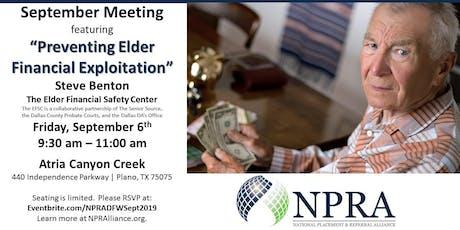 NPRA of DFW September Meeting tickets