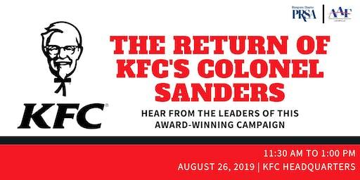 PRSA & AAF present: The Return of KFC's Colonel Sanders