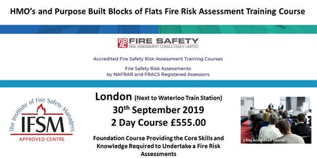 LONDON. HMO & Purpose Built Blocks of Flats Fire Safety Risk Assessment Training Course.  tickets