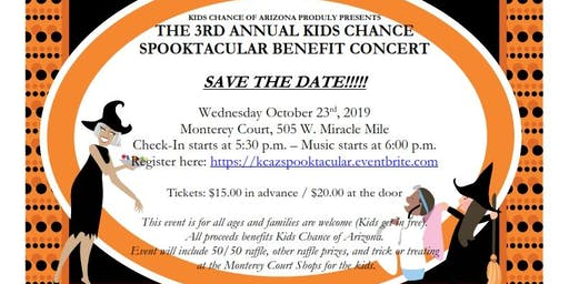 3rd Annual Kids Chance Spooktacular Benefit Concert!
