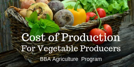 Cost of Production (Vegetable Producers) in Nelson tickets