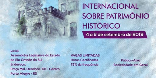 I Seminário Internacional sobre Patrimônio Histórico