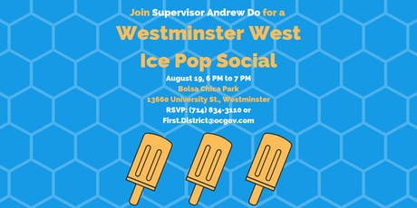 Westminster West Neighborhood Ice Pop Social with Supervisor Do tickets