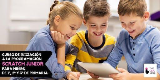 Programación con Scratch Junior para niños de 1º, 2º y 3º de Primaria (4 sesiones)