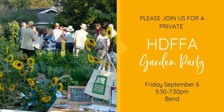 2019 HDFFA Garden Party (invitation only) tickets
