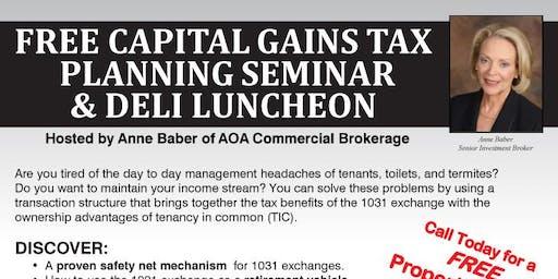 Capital Gains Tax Planning Seminar & FREE Luncheon (CC)