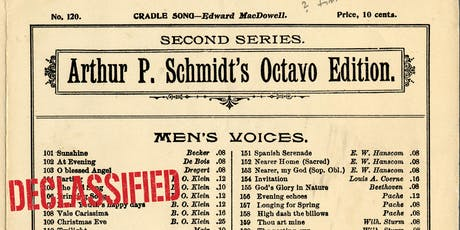 """Manuscript Music for Men's Chorus"" [#Declassified] tickets"