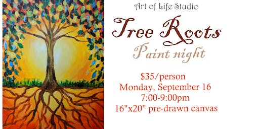 Paint Night: Tree Roots