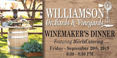 Winemaker's Dinner - featuring 3GirlsCatering