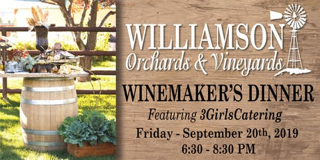 Winemaker's Dinner - featuring 3GirlsCatering tickets