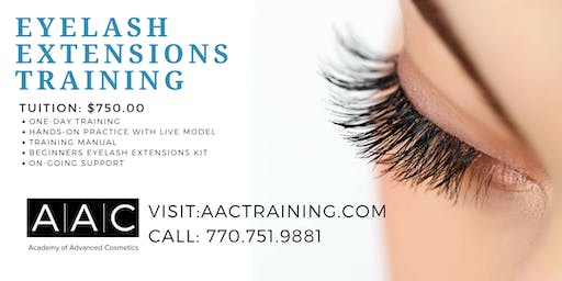 EYELASH EXTENSIONS CERTIFICATION TRAINING