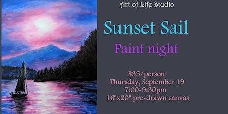 Paint Night: Sunset Sail tickets