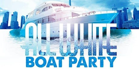 ALL WHITE  BOAT PARTY CRUISE LABOR DAY WEEKEND NEW YORK CITY VIEWS  OF STATUE OF LIBERTY,Cocktails & Music tickets