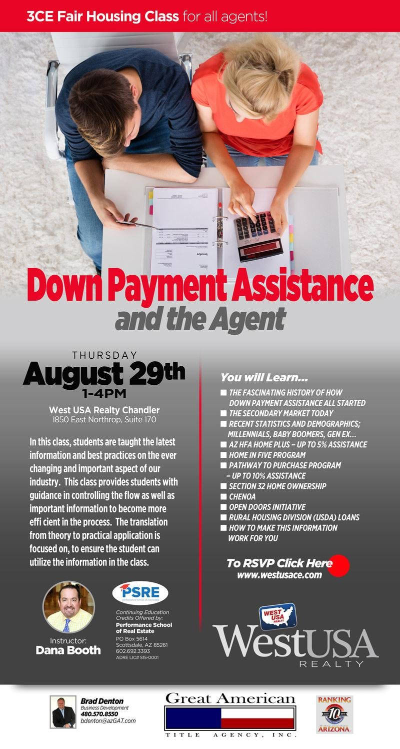 Down Payment Assistance and the Agent