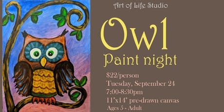 Paint Night: Owl tickets