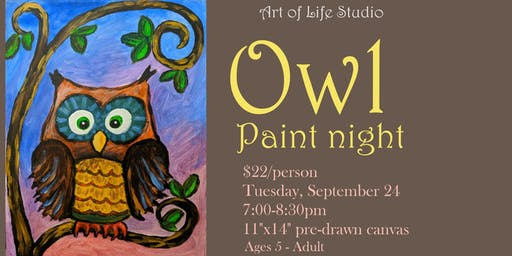 Paint Night: Owl