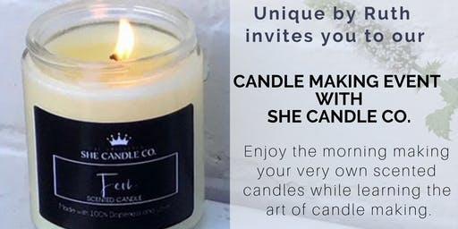 Unique by Ruth presents: Candle Making with She Candle Co.