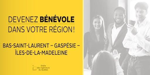 Soirée d'information - Bas-Saint-Laurent-Gaspésie-Îles-de-la-Madeleine - Devenez bénévole de l'Ordre dans votre région!
