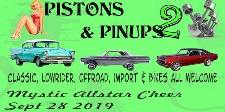 Pistons & Pin-ups 2 tickets