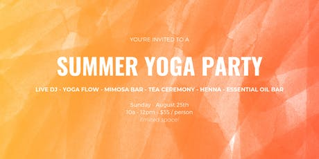 SUMMER YOGA PARTY tickets
